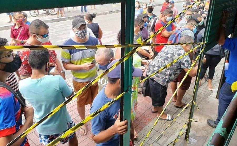 Shopping popular de Fortaleza, Beco da Poeira é fechado por não cumprir normas de segurança da quarentena