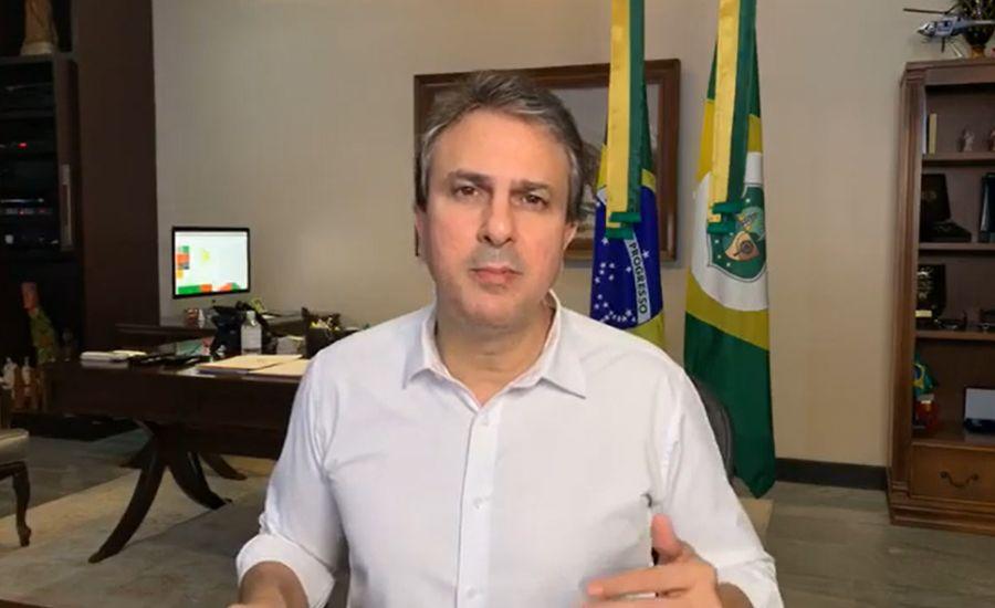 Governador Camilo Santana fala sobre  respiradores para Morada Nova