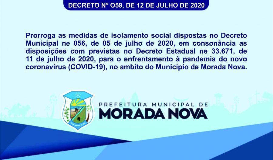 Decreto n° O59, de 12 de Julho de 2020