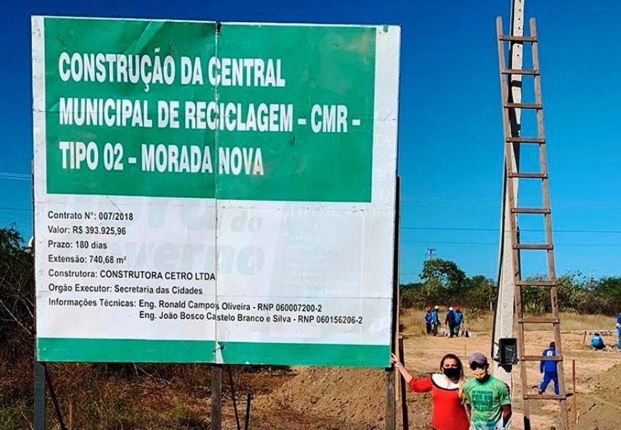Morada Nova irá construir uma central municipal de reciclagem