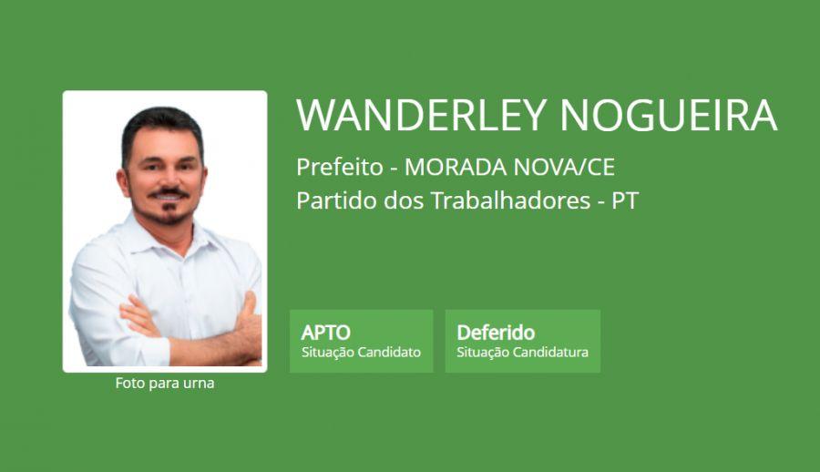 Justiça defere Wanderley Nogueira e o mesmo poderá concorrer às eleições municipais em Morada Nova.
