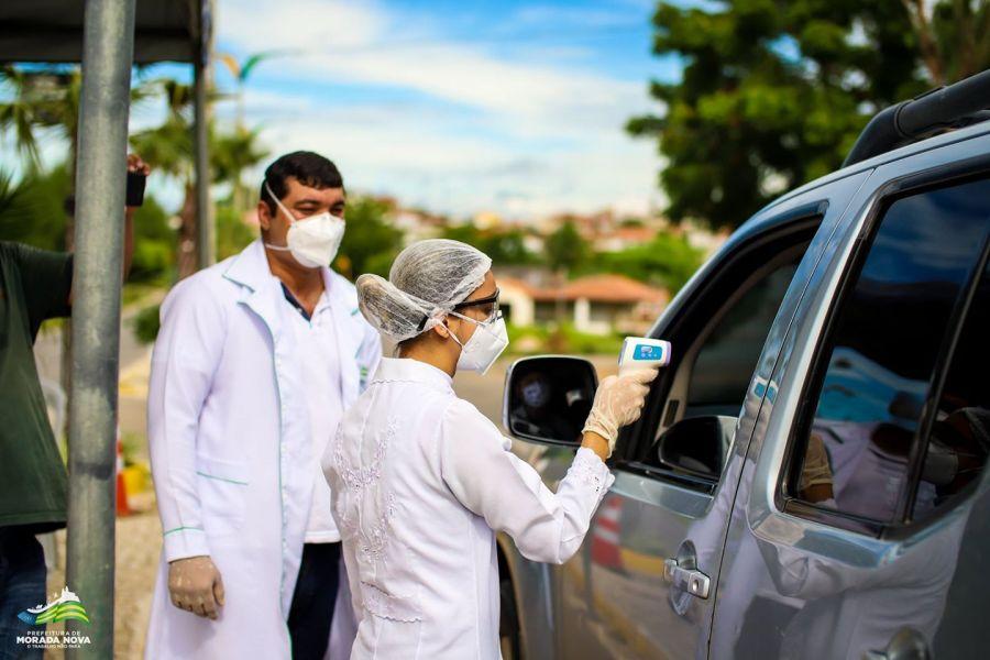 Barreiras Sanitárias instaladas nos pontos de acesso à cidade de Morada Nova