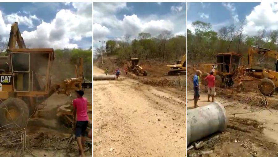 Implantação de bueiros e recuperação das estradas vacinais da comunidade de Boa Água