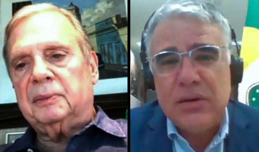 Senadores Tasso Jereissati e Eduardo Girão divergem sobre CPI da Covid
