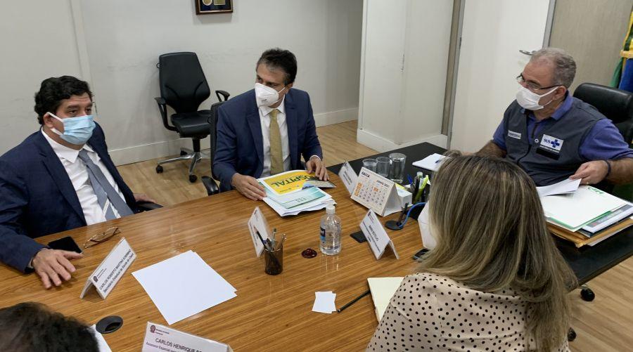 Em reunião com Queiroga, Camilo fala sobre vacina da Uece e pede habilitação de leitos de UTI