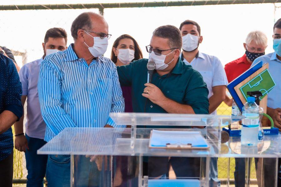 Inauguração da Areninha do distrito de Lagoa Grande