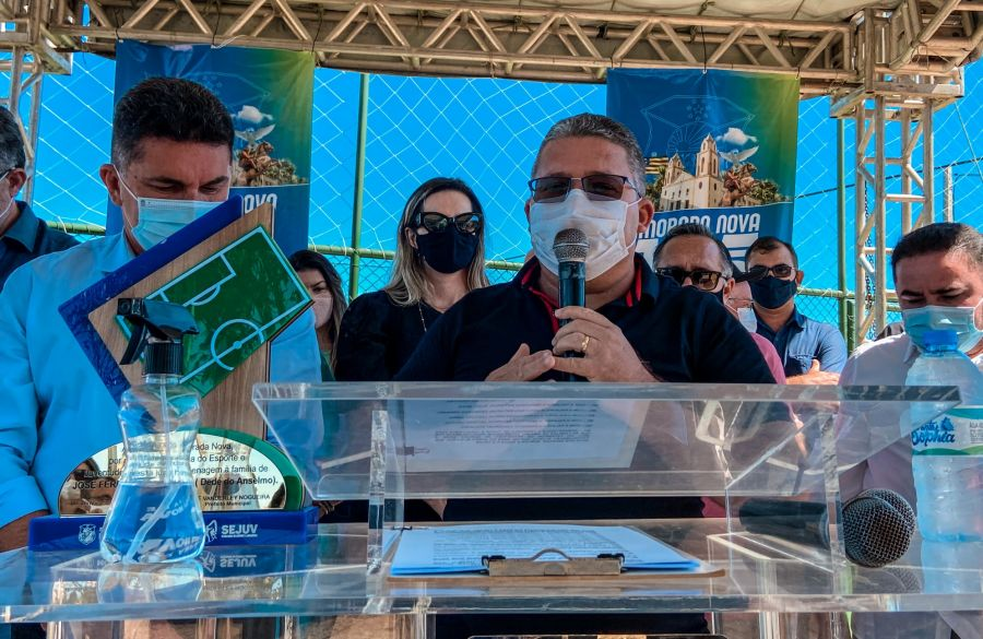 Inauguração da Areninha do distrito de Roldão