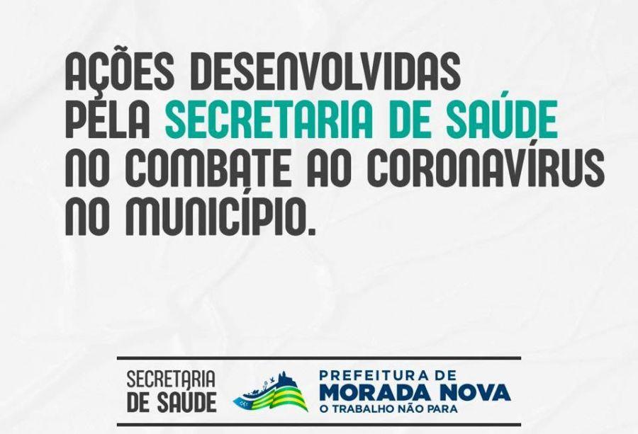 Ações desenvolvidas péla secretaria de saúde no combate ao coronavírus no município.